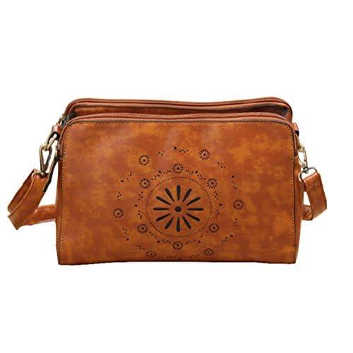 KISS GOLD Fresh Hollow 3 Layers Messager Single Shoulder Bag Cross Body Bag Handbag