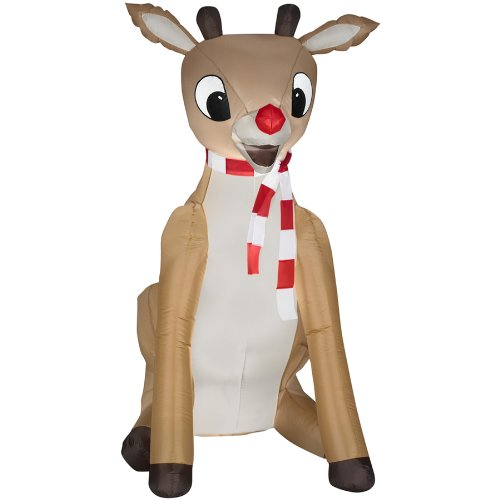 Gemmy 5.51 Ft Christmas Inflatable Fabric Rudolph