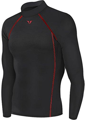 199-colore-nero-calzamaglia-da-corsa-a-compressione-strato-base-a-maniche-lunghe-da-uomo-nero-xx-lar