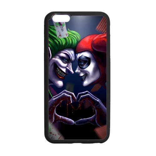 LeonardCustom Durable Protective Hard TPU Rubber Coated Cover Case for iPhone 6 Plus & iPhone 6S Plus, Batman Joker and Harley Quinn -LCI6PU778 at Gotham City Store