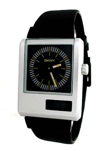 DKNY - NY1291 - Montre Homme - Quartz analogique - Bracelet en cuir Noir