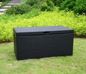 Wicker Lane ORI003-D Outdoor Black Wicker Patio