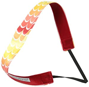 Sweaty Bands Let It Flow Headband, Neon Yellow/Orange/Red, 1-Inch