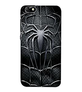 ColourCraft Black Spider Design Back Case Cover for HUAWEI HONOR 4X