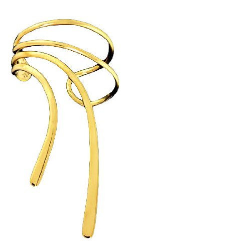Left Only Gold Vermeil Long Wave Ear Cuff