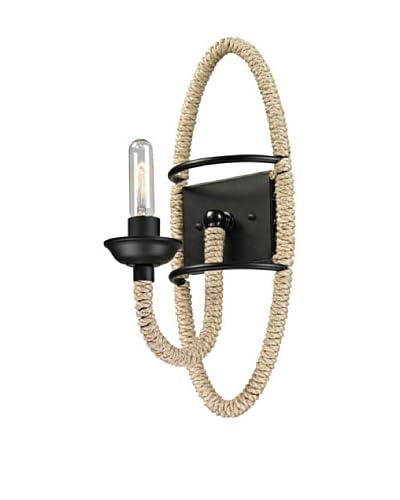 Artistic Lighting Pearce Collection 1-Light Sconce, Matte Black