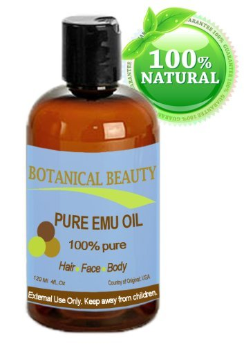 Botanical Beauty Pure Emu Oil, 100% Pure, 4 Oz-120 Ml