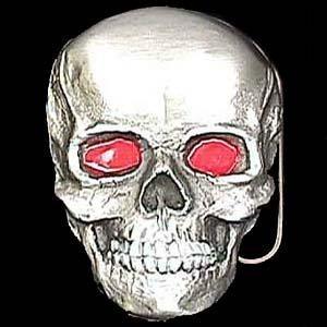 Pewter Belt Buckle - Father Skull - Pewter Belt Buckle