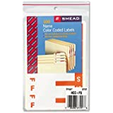 Smead Products - Smead - Alpha-Z Color-Coded First Letter Name Labels, F & S, Orange, 100/Pack - Sold As 1 Pack - Each label is printed with two letters; simply strip away the letter not wanted. - Type full surname or company name on label next to letter. - Label is center-creased to wrap around folder tabs.