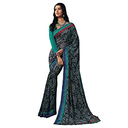 radhika georgette saree with unstiched blouse rs_32722_black