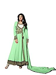 Creative Boutique Sea Green Coloured Georgette and Santoon Fancy Dress Material