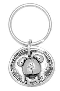 Amazon.com: Clayvision Dog with Bone Oval Pendant Key ...