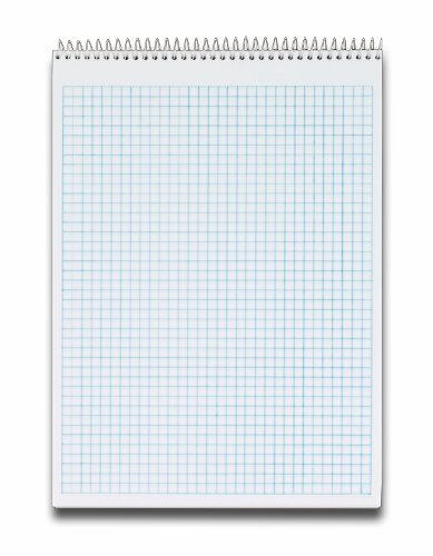 TOPS Docket Quadrille Pad, 8.5 x 11.75 Inches, Wirebound at Top, 70 Sheets, White (63801)