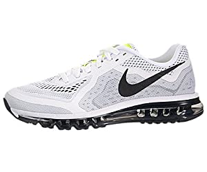 Nike Mens Air Max 2014 Running Shoes White/Black/Pure Platinum 621077-100 Size 12