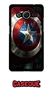 Caseque Captain America Shield Back Shell Case Cover For Samsung Galaxy Core 2