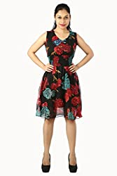 Modish Women's Cocktail Dress - MD-GRGT-DRS1003-REDL_Red_Large