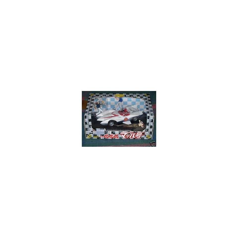 Unifive Speed Racer Mach 5 Diecast Metal with 2 figures
