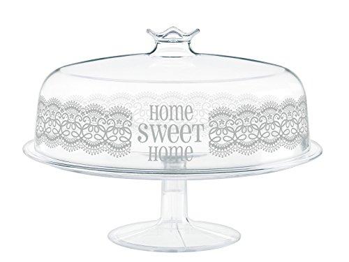 Cosmoplast HomeSweetHome Alzata con Coperchio, Plastica, Bianco, 30x30x21 cm