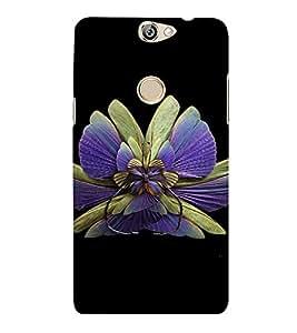 PrintVisa Colorful Butterfly Design 3D Hard Polycarbonate Designer Back Case Cover for COOLPAD MAX