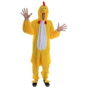 Chicken Adult Animal Fancy Dress Halloween Costume O-s from Wicked Costumes