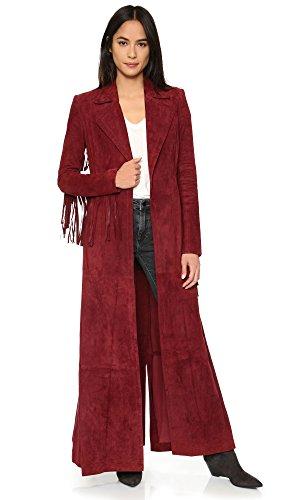 Rachel Zoe Women's Loni Suede Fringe Maxi Coat