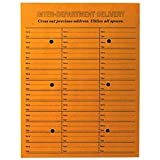 "Inter-Departmental Envelopes, 3-Across, String/Button Closure, 10""x13"", 100/Box QUA63562"