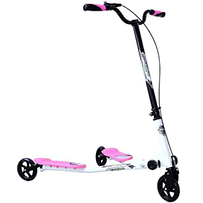 Homcom Kids 3 Wheels Foldable Speeder Push Scooter Tri Slider Pink Large Type for Age 8+ by Sold by MHSTAR