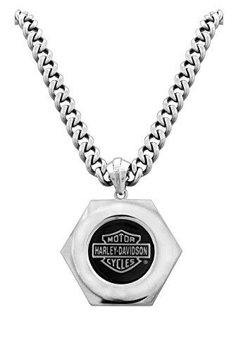 Harley-Davidson® Mod® Steel Bolt Necklace Hsn0022