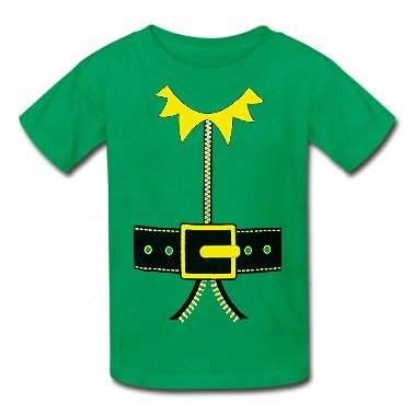 Elf T-Shirt - Kid's Elf T-Shirt (Kelly Green)