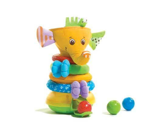 Tiny Love Musical Stack And Ball Game, Yellow Elephant Children, Kids, Game front-1036939