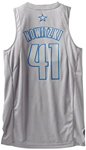 NBA Dallas Mavericks Winter Court Big Color Swingman Jersey, #41 Dirk Nowitzki, Grey by adidas
