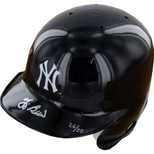 Yogi Berra Signed New York Yankees Mini Helmet LE/50 at Amazon.com
