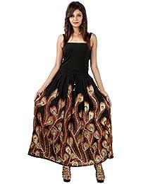 Jaipur Skirt Women's Regular Fit Rayon And Crepe Skirt (Black, XXL) - B01H579EOI