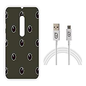 Designer Hard Back Case for Moto G (3rd Generation) with 1.5m Micro USB Cable