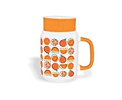 Sanjeev Kapoor Orange Bone China Mason Milk Mug, 480ml/6.5cm, Multicolour