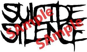Amazon.com: SUICIDE SILENCE BAND LOGO WHITE VINYL DECAL ...