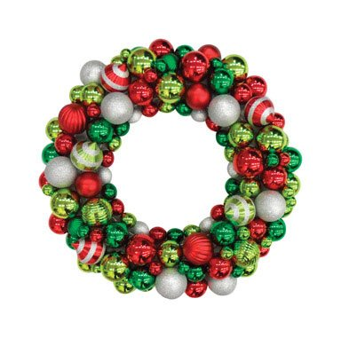 "Greenfields Christmas Tree Man 24"" Shatrprf Wreath Case Of 2, Greenfields Christmas Tree Man"