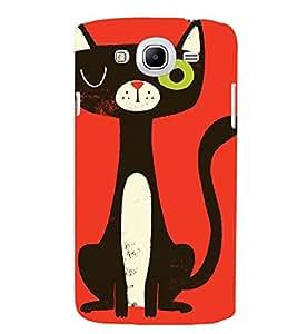 Printvisa Animated Black Cat Back Case Cover for Samsung Galaxy Mega 5.8 i9150::Samsung Galaxy Mega 5.8 i9152