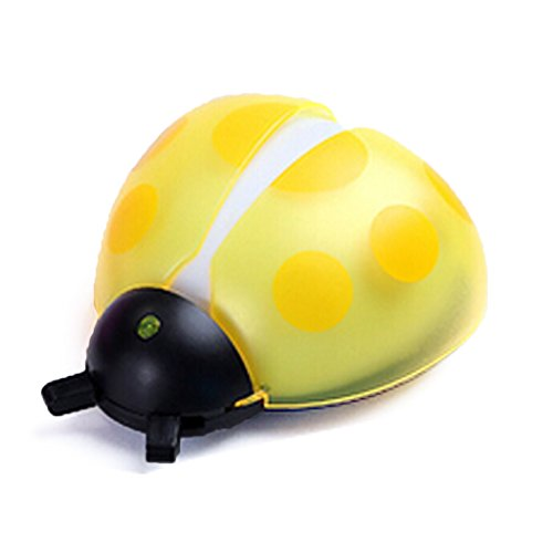 Topcabin Beetle LED Nightlight Creative Night Lighting Control (Optical Control + Voice Control) (Yellow)