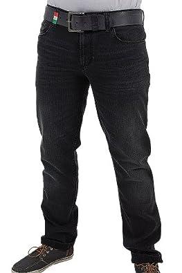 Alberto Jean Pantalon Pipe 1490 Stretch Homme, 36/32, noir