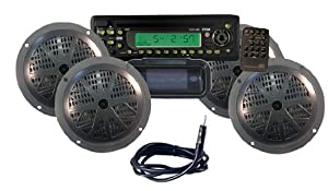 Pyle KTMR14SP Waterproof Marine CD MP3 Player Receiver w 4 Speakers & Antenna... by Pyle