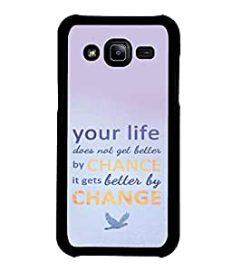 printtech Cool Quotes Life Back Case Cover for Samsung Galaxy J2::Samsung Galaxy J2 J200F