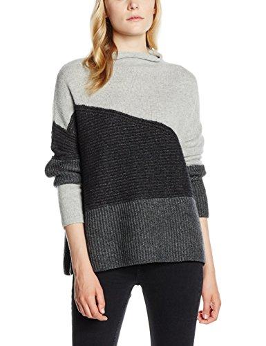 french-connection-patchwork-tonal-knit-ls-highnk-felpa-donna-grey-grey-mel-multi-40