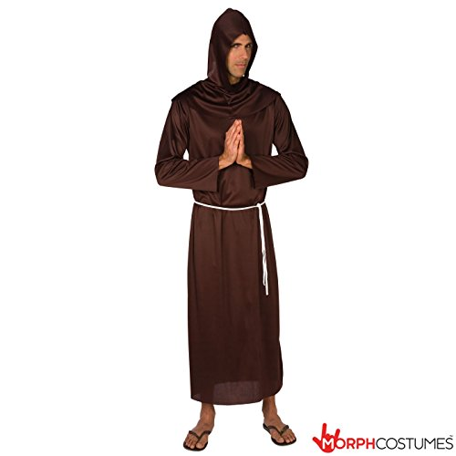 [Mens Medieval Monk Robe Costume - Cheap Costume] (Brown Monk Robe Costume)