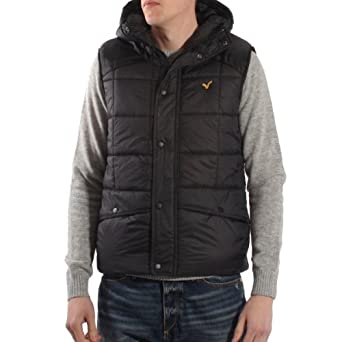 Voi Jeans Protect Padded Hooded Gilet Black - XL (42-44in)