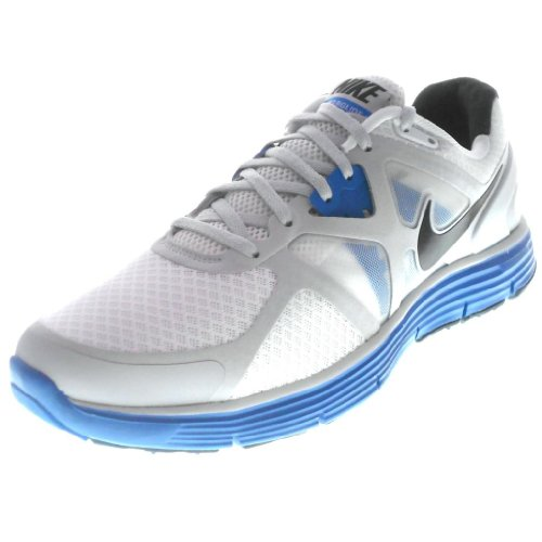 e6cf3bc970ec5 Nike Men s Lunarglide 3 Running Shoes 454164 104 White Black Pure Platinum  Imperial Blue