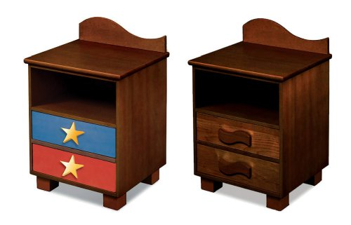 Room Magic Chocolate Nightstand, Star Rocket