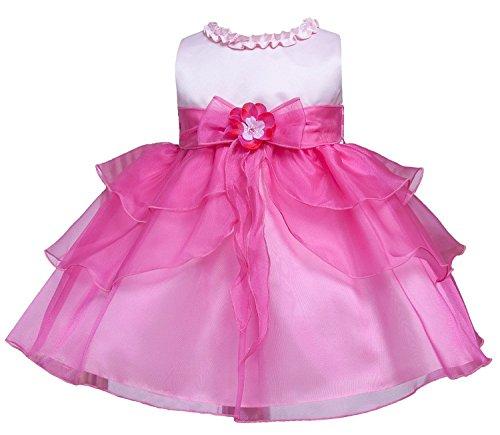 Kid Collection Baby-Girls Ruffle Tiered Dress 24M Xl Pink Fuchsia (Kid B802)
