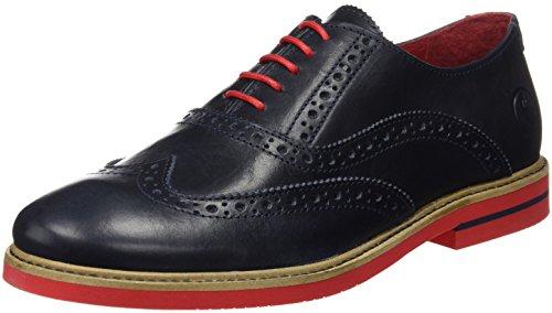 El Ganso Uomo Zapato Oxford Piel Marino Scarpe Blu Size: 43