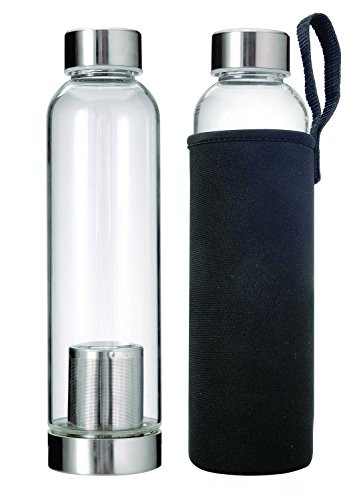 Primula-Brew-Travel-Bottle-Cold-Brew-Coffee-Maker-with-Filter-and-Insulating-Sleeve-20-oz-Clear
